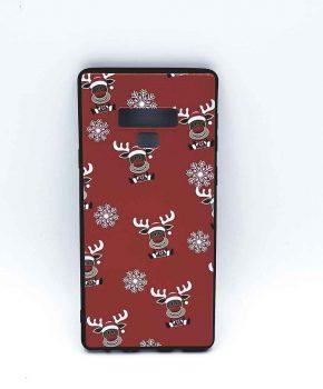 Samsung Note 9 hoesje  - kerst - Rudolf rednose - rood