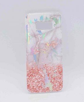 Voor Samsung Galaxy S8 - hoesje - Marble flower pink