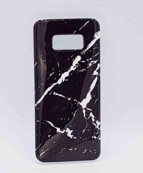 Voor Samsung Galaxy S8 - hoesje - Black marble