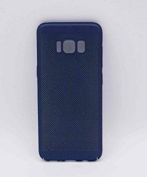 Voor Samsung Galaxy S8 - hoesje - metaal gaas look - Blauw