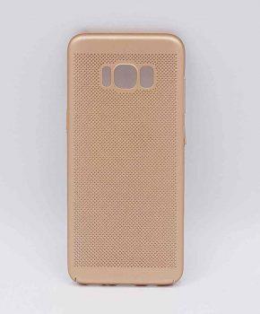 Voor Samsung Galaxy S8 - hoesje - metaal gaas look - goud