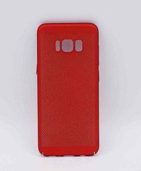 Voor Samsung Galaxy S8 - hoesje - metaal gaas look - Rood