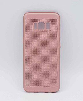 Voor Samsung Galaxy S8 - hoesje - metaal gaas look - Rose goud