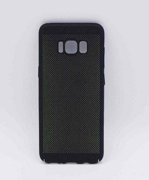 Voor Samsung Galaxy S8 - hoesje - metaal gaas look - Zwart