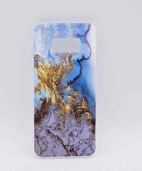 Voor Samsung Galaxy S8 - hoesje - Gold on Snow