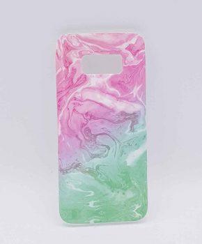 Voor Samsung Galaxy S8 - hoesje - Pink & green swirl