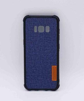 Voor Samsung Galaxy S8 - hoesje - Jeanslook - blauw