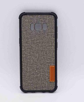 Voor Samsung Galaxy S8 - hoesje - Jeanslook - grijs