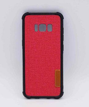 Voor Samsung Galaxy S8 - hoesje - Jeanslook - Rood