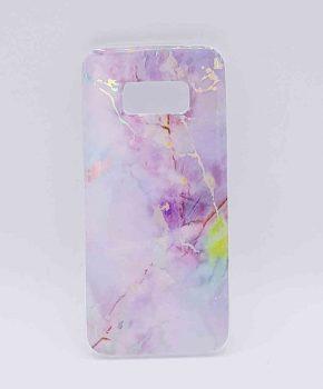 Voor Samsung Galaxy S8 - hoesje - lila marble flash