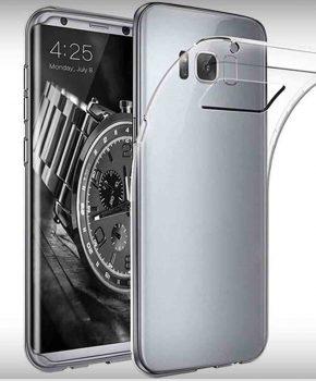 Voor Samsung S8  - transparant Hoesje - doorzichtig