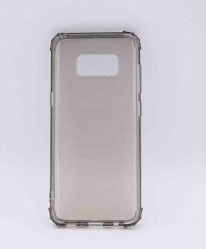 Voor Samsung S8  - transparant Hoesje - grijs