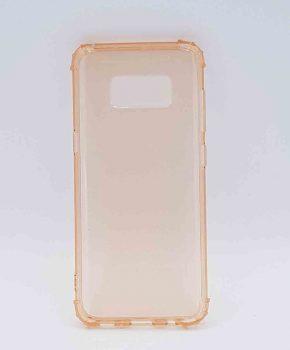 Voor Samsung S8  - transparant Hoesje - oranje