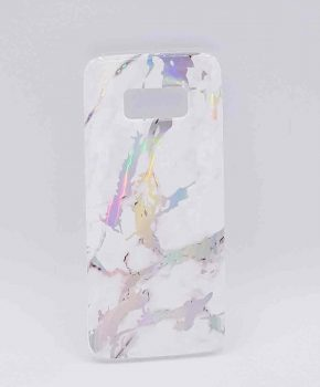 Voor Samsung Galaxy S8 - hoesje - White marble flash