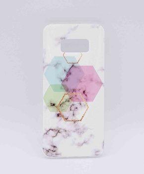 Voor Samsung Galaxy S7 - hoesje - White Marble Hexagon