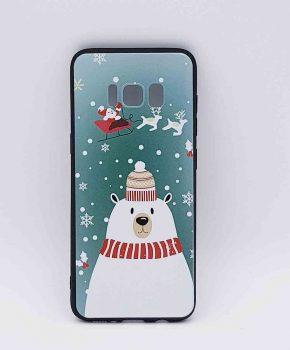 Voor Samsung Galaxy S8  - kerst hoesje – ijsbeer met muts