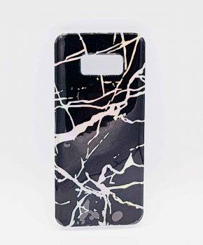 Voor Samsung Galaxy S8  - hoesje - black marble glow