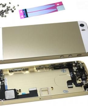 Complete behuizing voor iPhone SE - kabels en schroefset - goud
