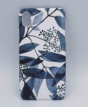iPhone XR - hoesje - blue leaves
