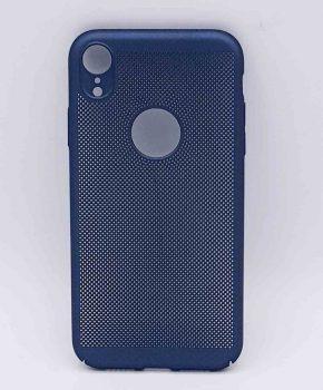 Voor IPhone XR - hoesje - metaal gaas look - Blauw
