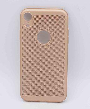 Voor IPhone XR - hoesje - metaal gaas look - Goud