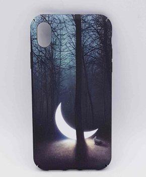 iPhone XR- hoesje - sunken moon in the forest