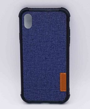 Voor IPhone XR - hoesje - Jeanslook - blauw