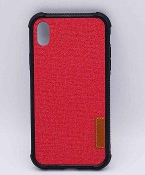 Voor IPhone XR -  hoesje  - Jeanslook - rood