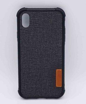 Voor IPhone XR - hoesje - Jeanslook - zwart