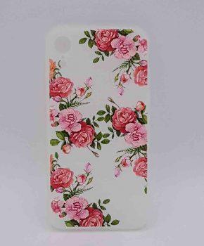 iPhone XR - hoesje - Roze rozen in bloei
