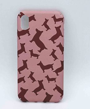 iPhone XR - hoesje - dogs in pink