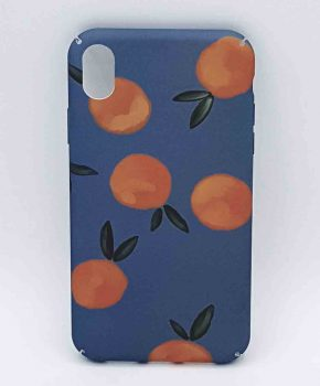 iPhone XR - hoesje - Oranges on Blue