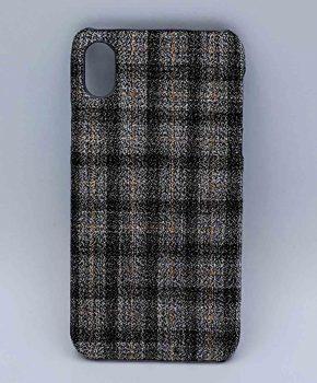 iPhone XR - hoesje - stof - schotse ruit - grijs