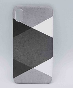 iPhone XR - hoesje - gray triangle