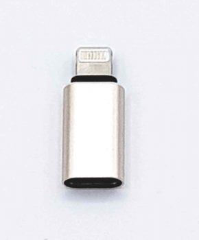 Type C female naar 8 Pins male Adapter - goud