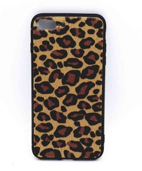 iPhone 6 / 6S hoesje - panter look - pluizig - geel/bruin