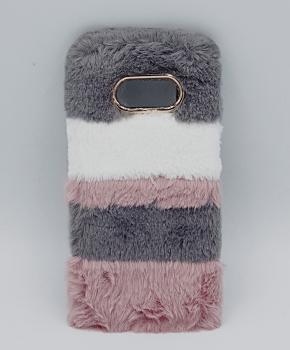 Voor Samsung S8 - pluizig hoesje - 3 kleuren