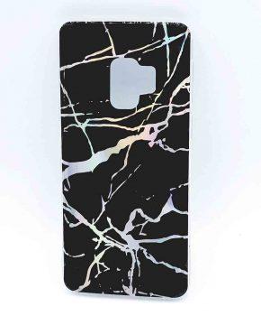 Voor Samsung S9 - hoesje - black marble flash