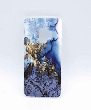 Voor Samsung Galaxy S9 – hoesje – Gold on Snow