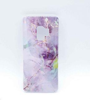 Voor Samsung Galaxy S9 – hoesje - lila marble flash
