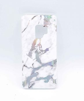 Voor Samsung Galaxy S9 - hoesje - White marble flash