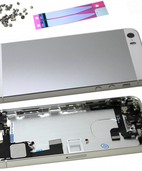 Complete behuizing voor iPhone SE - kabels en schroefset - Zilver