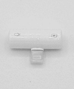Capsule dual Light-ning Splitter - 8 pins en 3.5 mm jack - wit