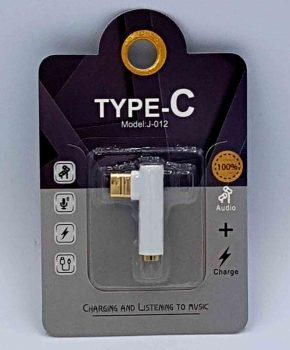 USB-C naar 3,5mm Jack audio adapter - wit