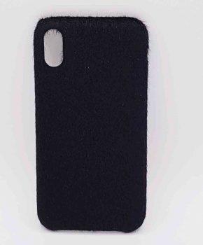 Voor IPhone XR  hoesje - zacht pluizig - zwart