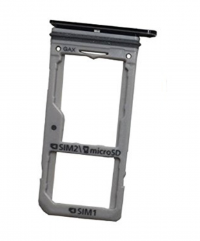 Dual Sim Sim Tray geschikt voor Samsung Galaxy s7 / S7 Edge dual-sim - zwart