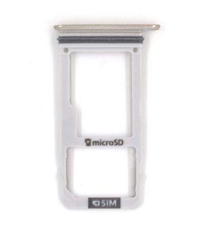 Single Sim - Sd kaart houder voor Samsung Galaxy A3 A320 A320F A320FD A320YD A320Y - Goud