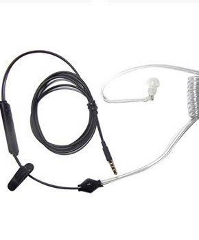 FBI Cool style oortje met stralingsbescherming- Zwart
