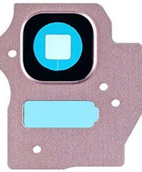 Camera Lens Cover - Roze Pink -  inclusief lens voor de Samsung Galaxy S8 + (Plus)