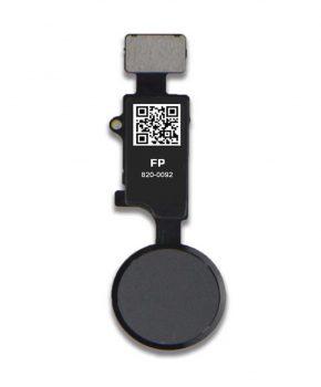 Universele home button voor IPhone 7 / 7P /8 /8P - met drukfunctie - zwart
